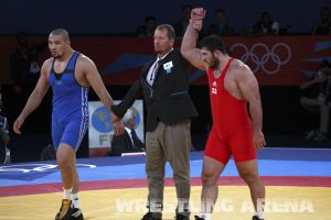 London2012FreestyleWrestling120kgModzmanashvili Shabanbay (27).jpg